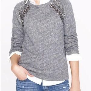 J. Crew Collection Embellished Raglan Sweatshirt